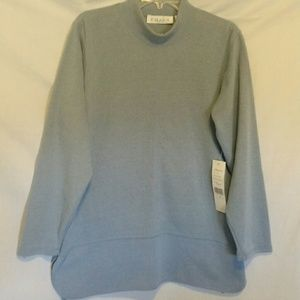 Chaus Sport Pullover Blue Top Size L